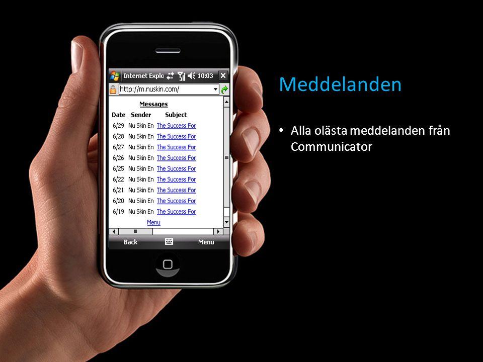 Meddelanden • Alla olästa meddelanden från Communicator