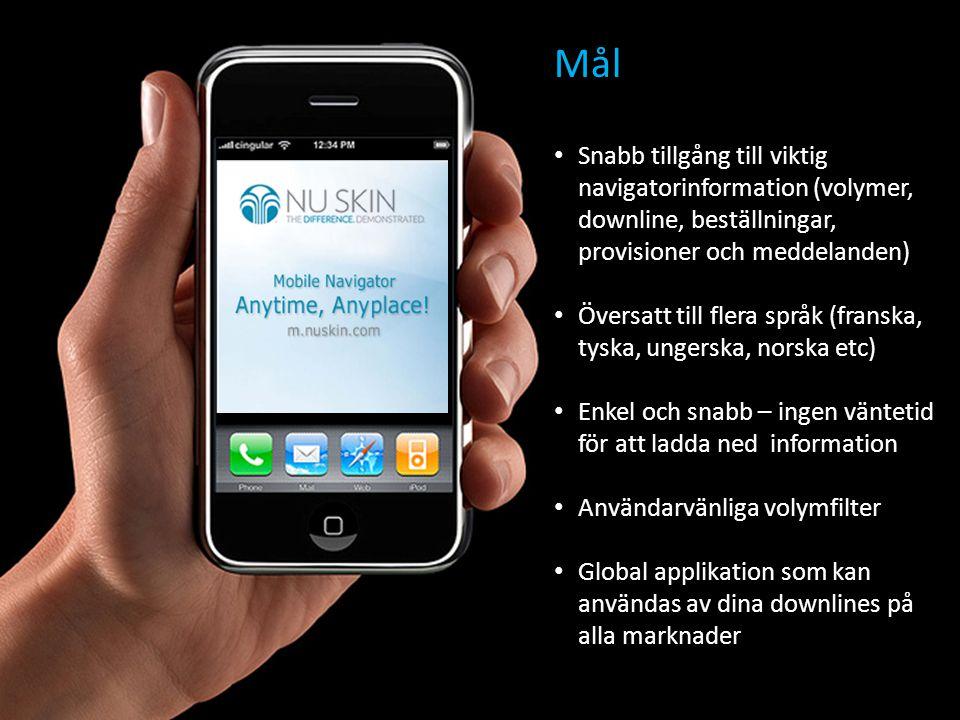 Snabbstart • Gå till m.nuskin.com på din mobiltelefon • Skriv in användarnamn och lösenord