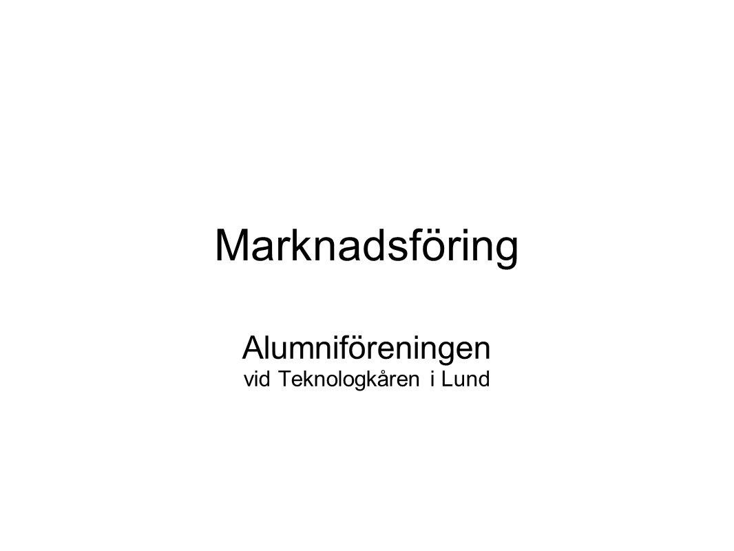Marknadsföring Alumniföreningen vid Teknologkåren i Lund