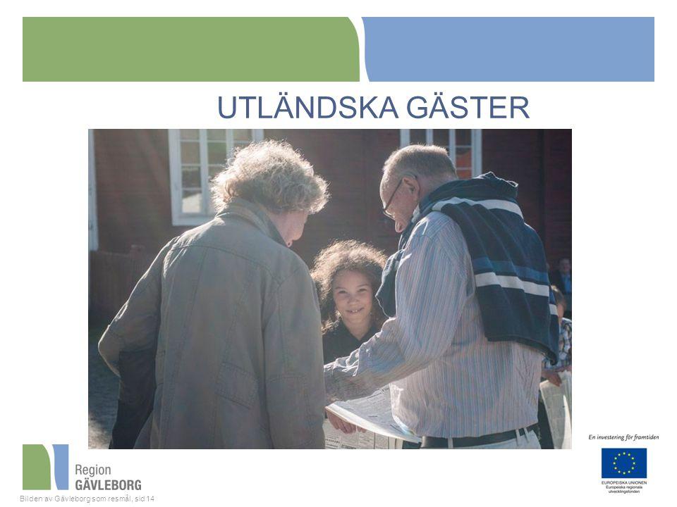 Bilden av Gävleborg som resmål, sid 14 UTLÄNDSKA GÄSTER