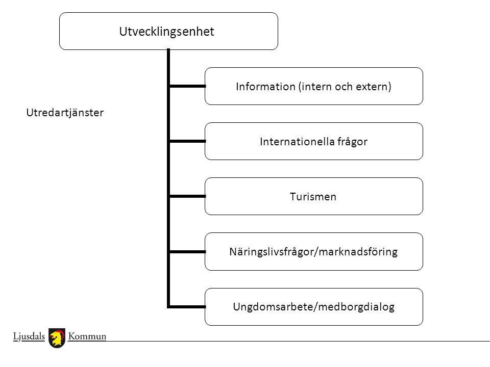 Informationschef (intern och extern kommunikation) Informatör/intern kommunikation Webbredaktör/utveckling Informatör/extern kommunikation Driftansvarig för webben Två huvudredaktörer per förvaltning
