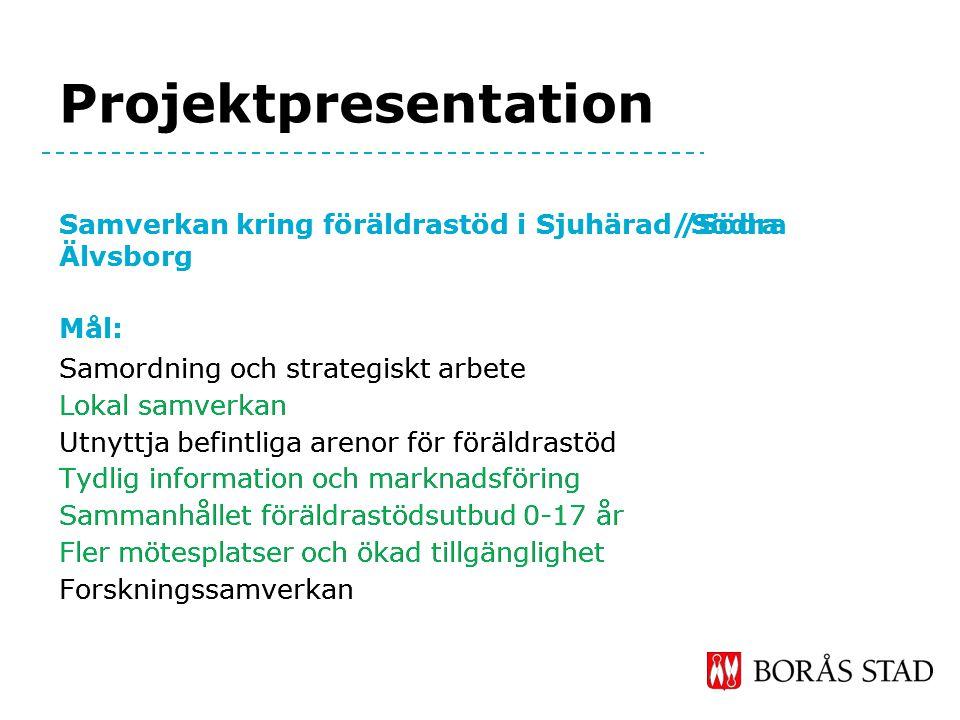 Föräldrastöd på Borås Stads hemsida Målet har varit att samla information om det totala utbudet av föräldratöd i samhället.