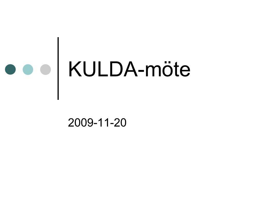 KULDA-möte 2009-11-20