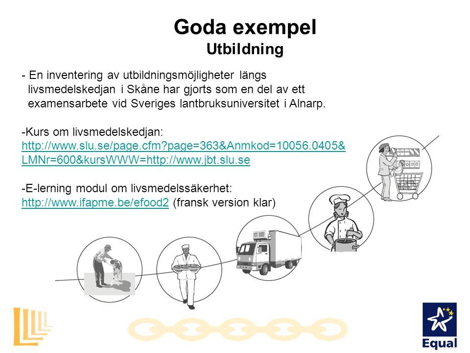Goda exempel Utbildning - En inventering av utbildningsmöjligheter längs livsmedelskedjan i Skåne har gjorts som en del av ett examensarbete vid Sveri
