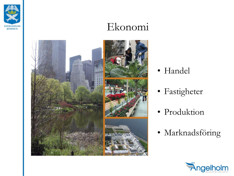 Ekonomi •Handel •Fastigheter •Produktion •Marknadsföring