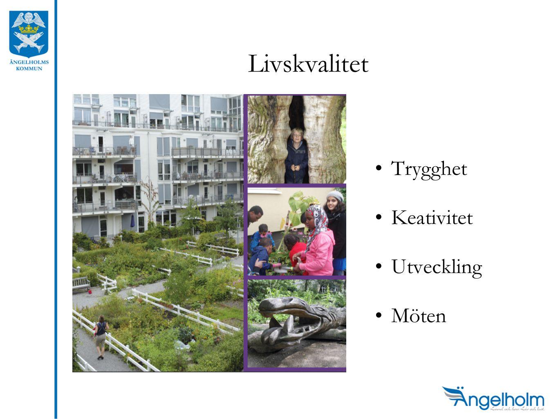 Livskvalitet •Trygghet •Keativitet •Utveckling •Möten