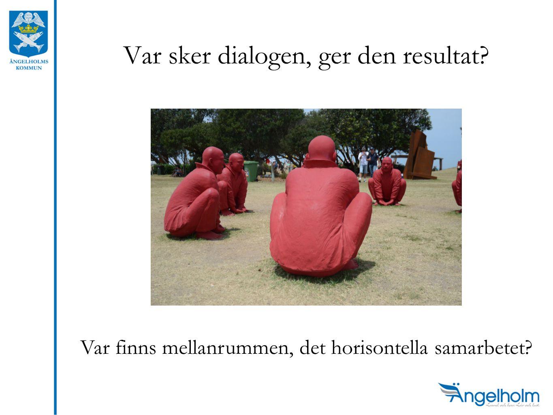Var sker dialogen, ger den resultat Var finns mellanrummen, det horisontella samarbetet