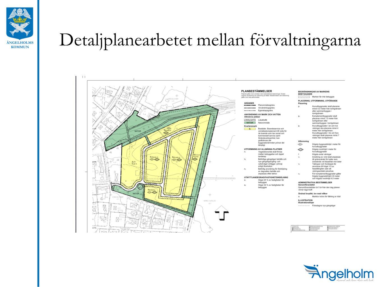 Detaljplanearbetet mellan förvaltningarna