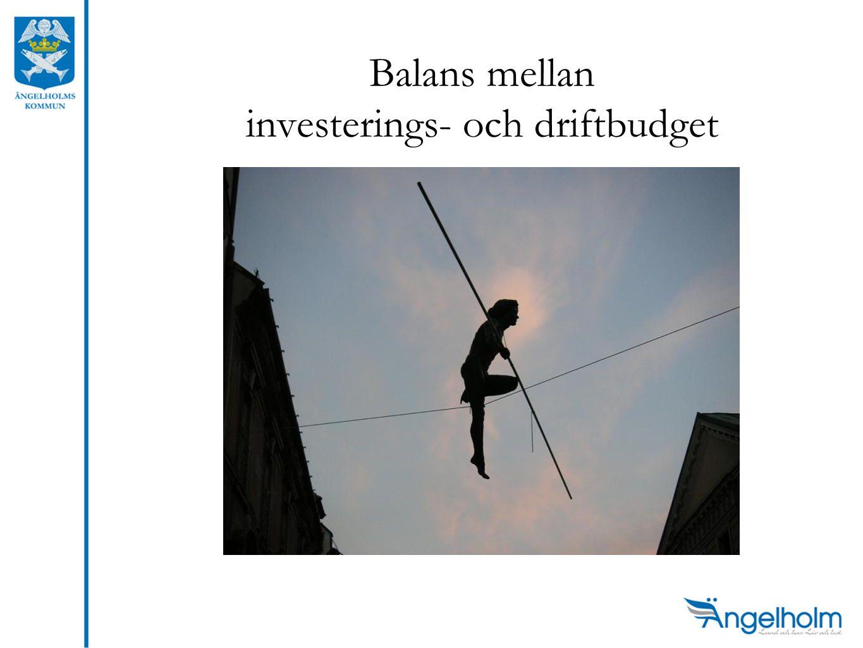 Balans mellan investerings- och driftbudget