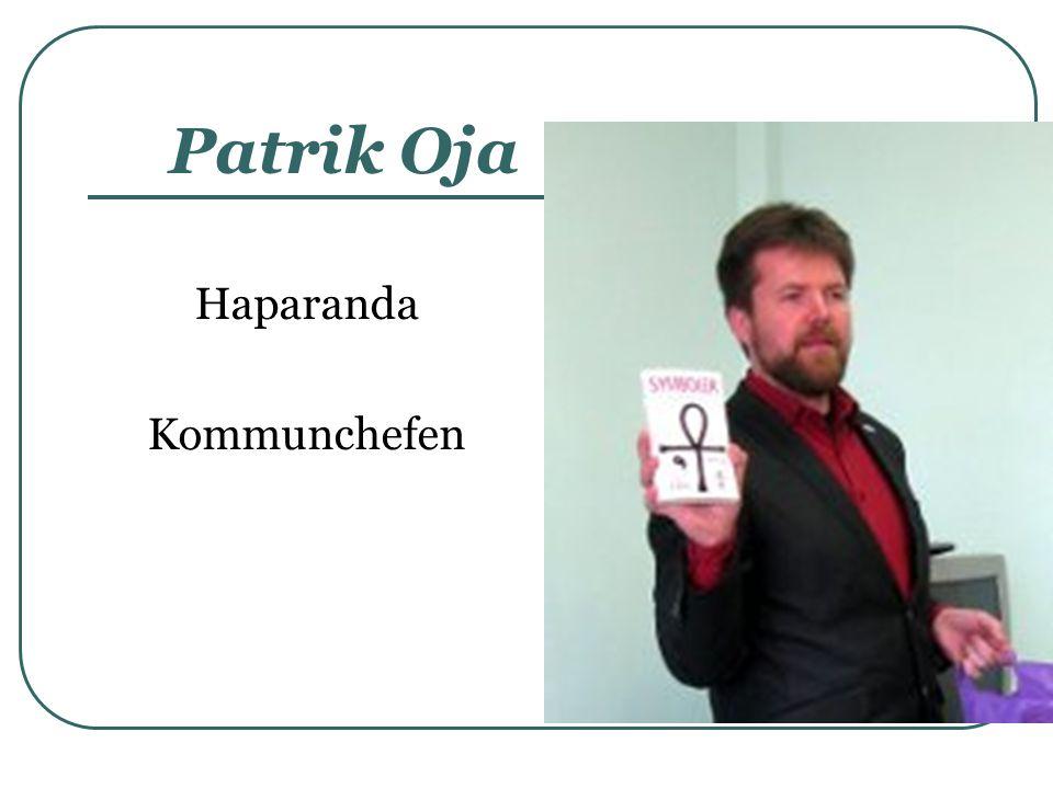 Patrik Oja Haparanda Kommunchefen