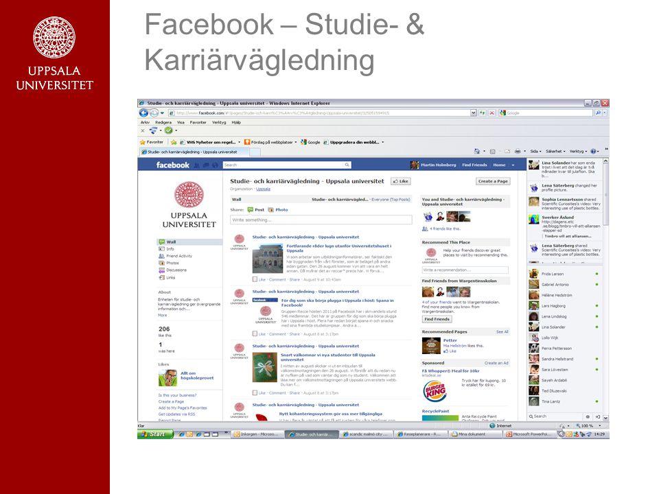 Facebook – Studie- & Karriärvägledning