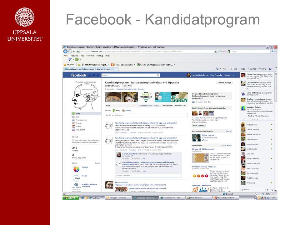 Facebook - Kandidatprogram