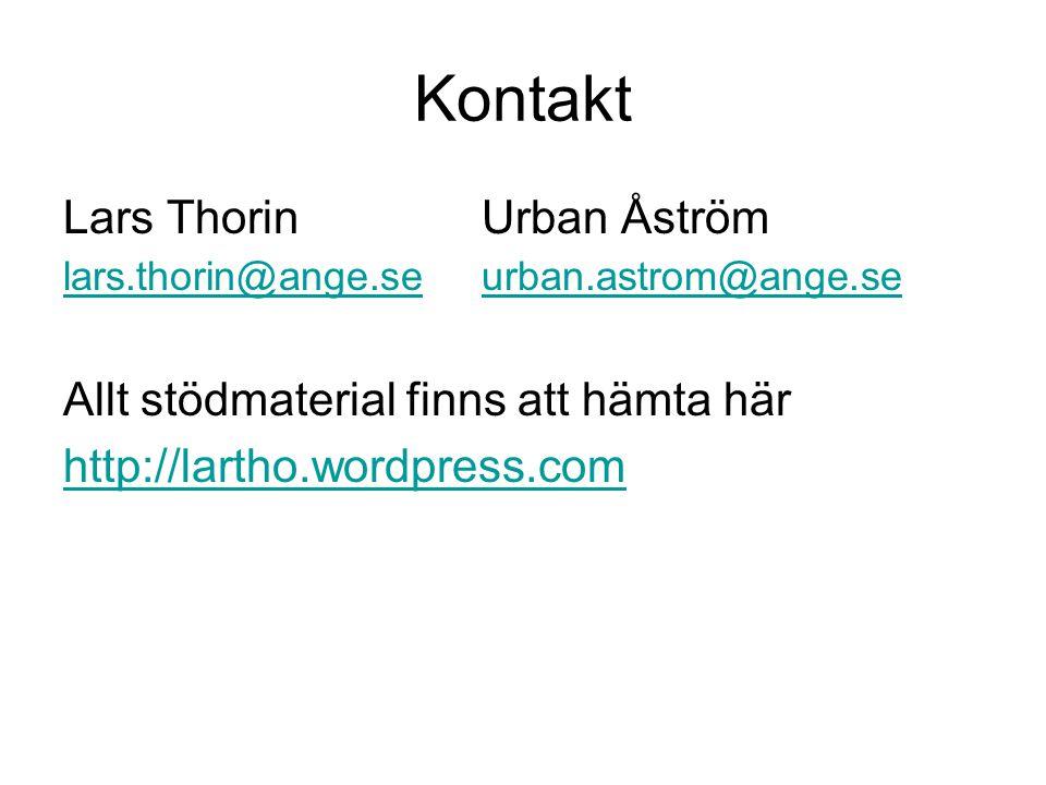 Kontakt Lars ThorinUrban Åström lars.thorin@ange.se urban.astrom@ange.se lars.thorin@ange.se urban.astrom@ange.se Allt stödmaterial finns att hämta hä