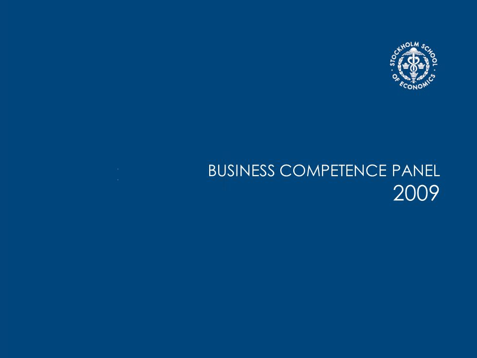 BUSINESS COMPETENCE PANEL 2009
