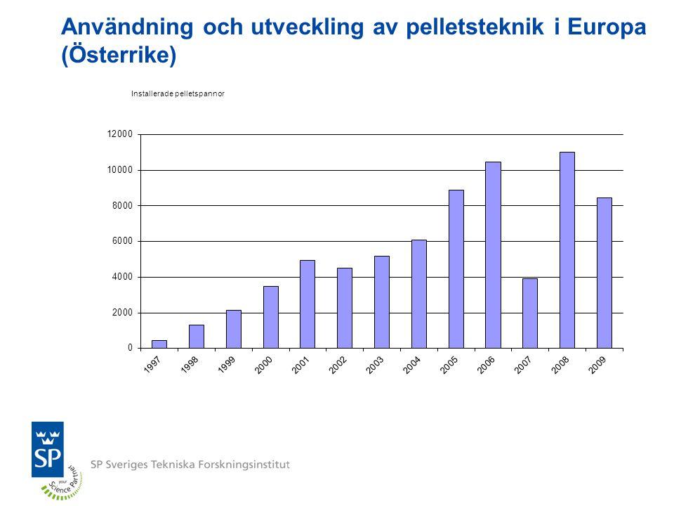 Användning och utveckling av pelletsteknik i Europa (Österrike)
