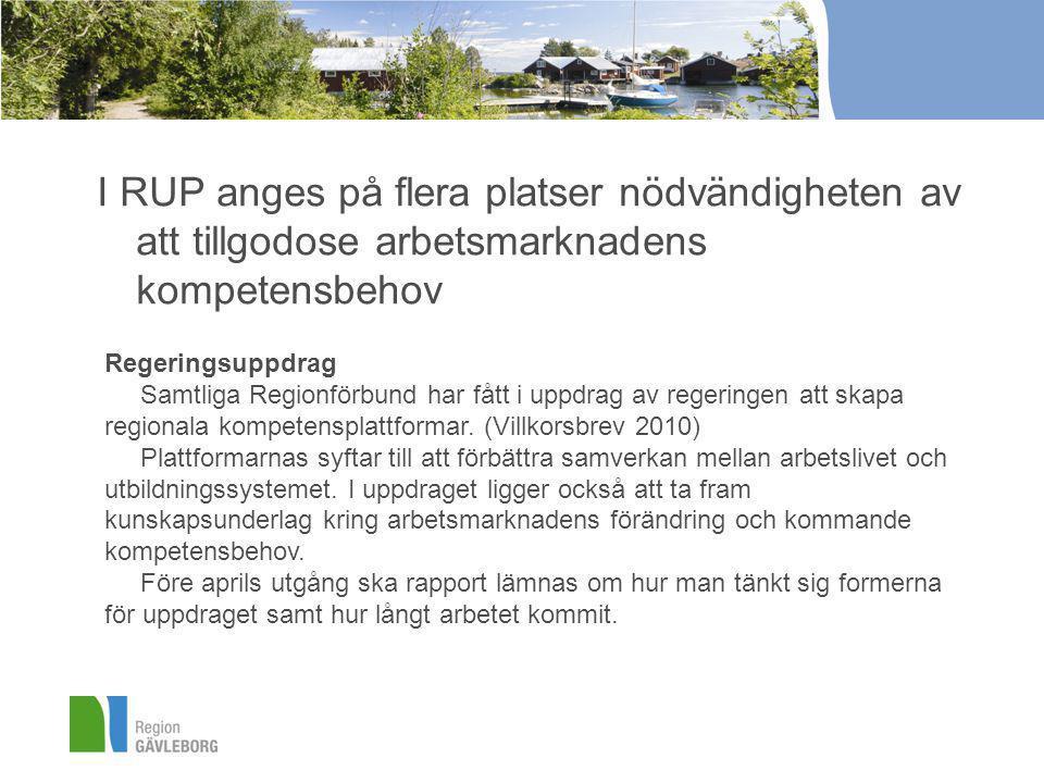 Kompetensforum Gävleborg •Skapa mötesplats för arbetsliv och utbildningsanordnare från Gy till HiG.