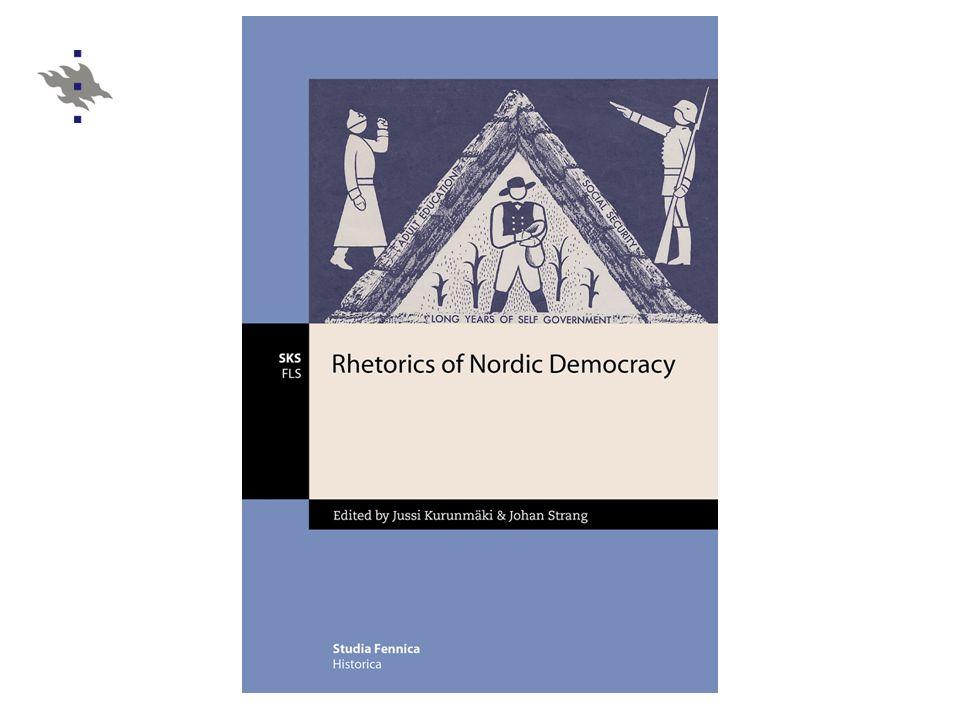 Framtidskod och immanent kritik  på 1930-talet referenser till en periferi av moderniseringen försvinner i begreppet nordisk  det nordiska samhället och den nordiska demokratin : en modell för nationellt samhälle i kontrast mot efterblivenhet och diktatur  nordisk som ett begrepp för en övernationell ram, centrum-periferi- logiken inom denna ram, i all synnerhet mellan Sverige och Finland  det nordiska samhället och den nordiska demokratin (= Sverige) som en framtidskod och ett kriterium för immanent samhällskritik i Finland