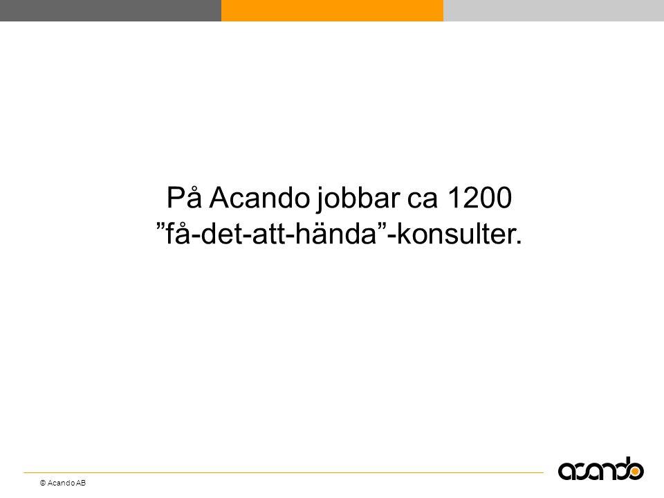 """© Acando AB På Acando jobbar ca 1200 """"få-det-att-hända""""-konsulter."""