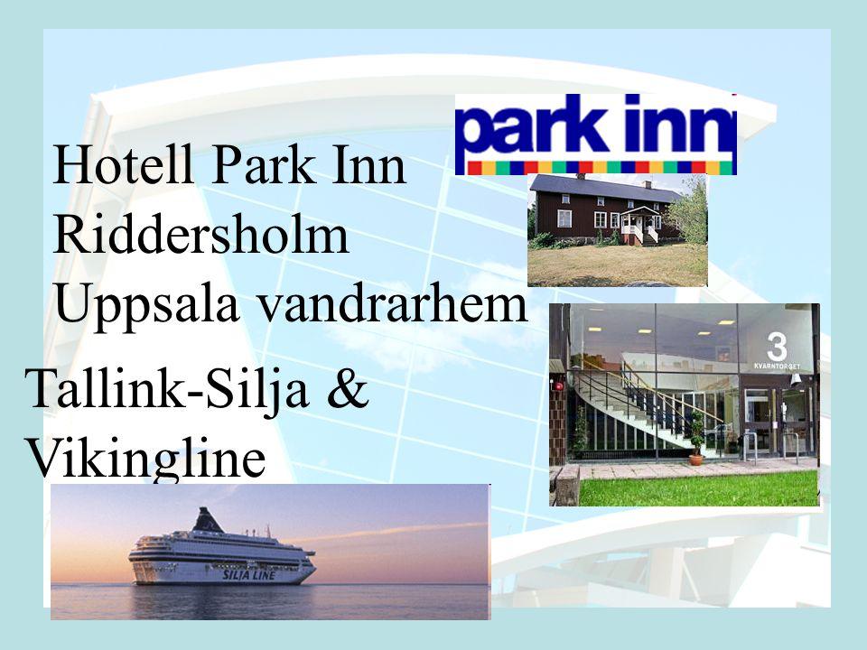 Hotell Park Inn Riddersholm Uppsala vandrarhem Tallink-Silja & Vikingline