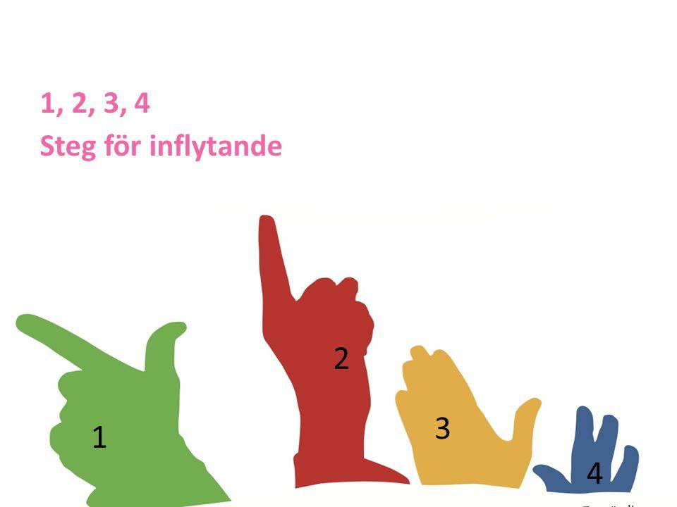 2 1 3 4 1, 2, 3, 4 Steg för inflytande