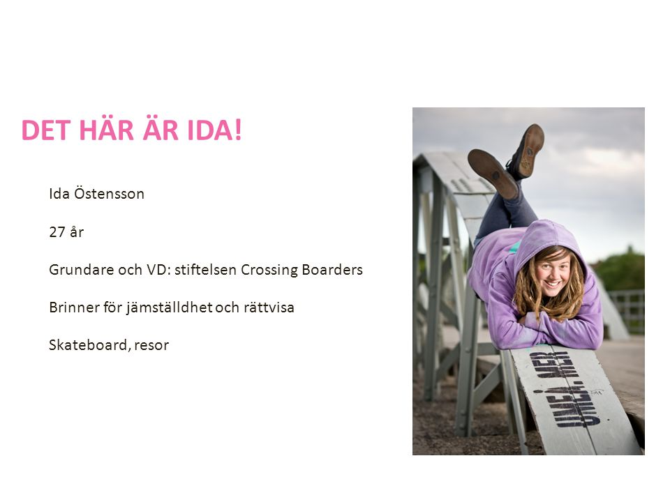 DET HÄR ÄR IDA.