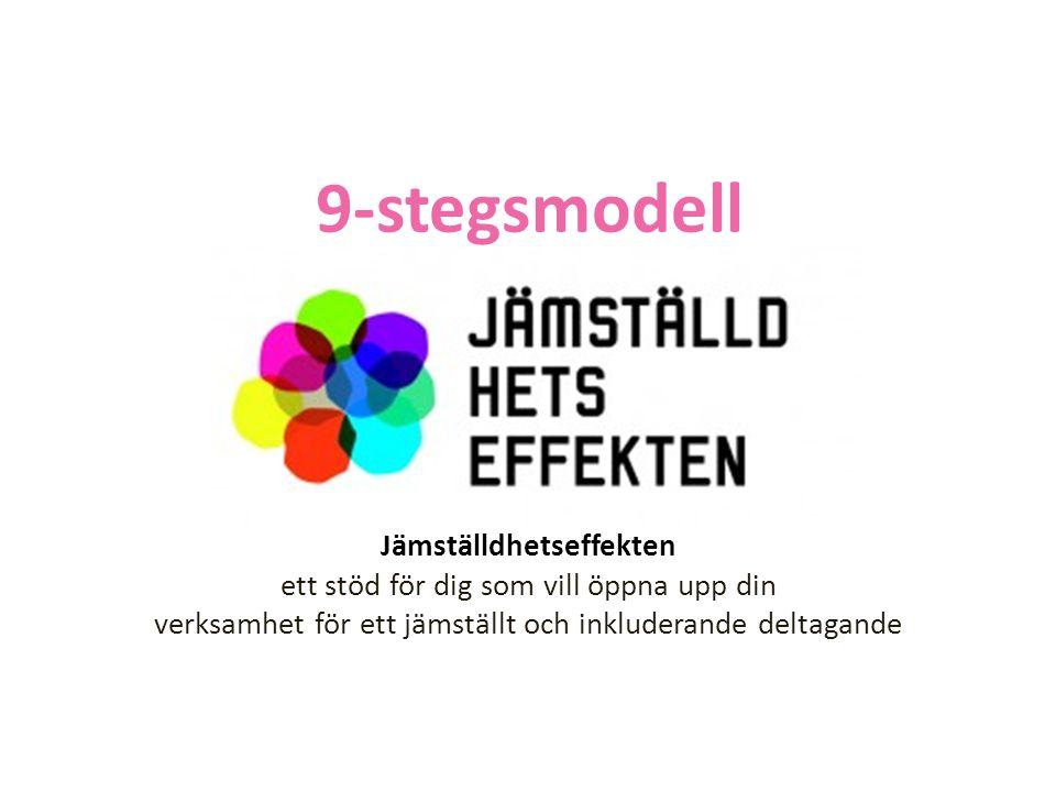 Jämställdhetseffekten ett stöd för dig som vill öppna upp din verksamhet för ett jämställt och inkluderande deltagande 9-stegsmodell