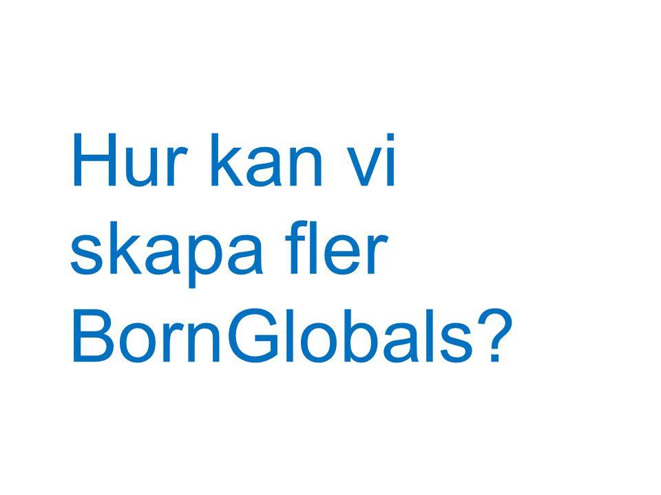 Hur kan vi skapa fler BornGlobals?