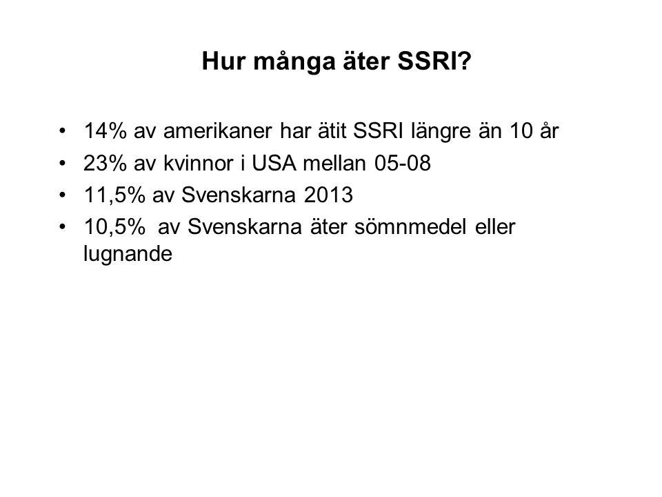 Hur många äter SSRI.