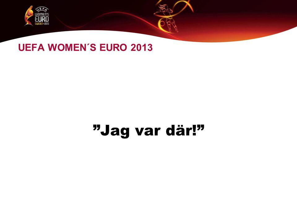UEFA WOMEN´S EURO 2013 Jag var där!