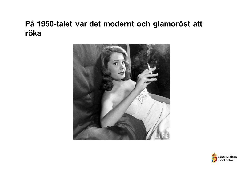 På 1950-talet var det modernt och glamoröst att röka