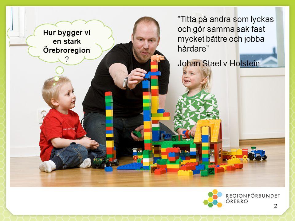 """""""Titta på andra som lyckas och gör samma sak fast mycket bättre och jobba hårdare"""" Johan Stael v Holstein Hur bygger vi en stark Örebroregion ? 2"""