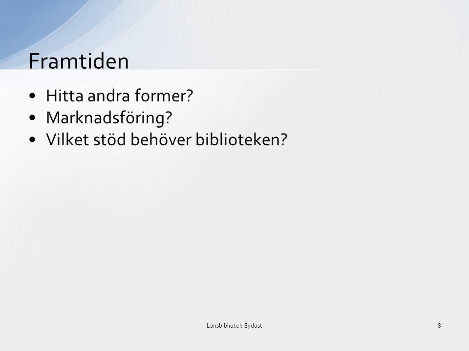 Maria Lundqvist maria.lundqvist@regionblekinge.se www.lansbiblioteksydost.org 0455-32 19 52 Tack för er uppmärksamhet.