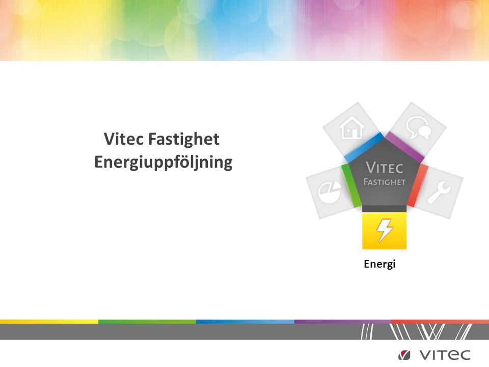 Vitec Fastighet Energiuppföljning Energi