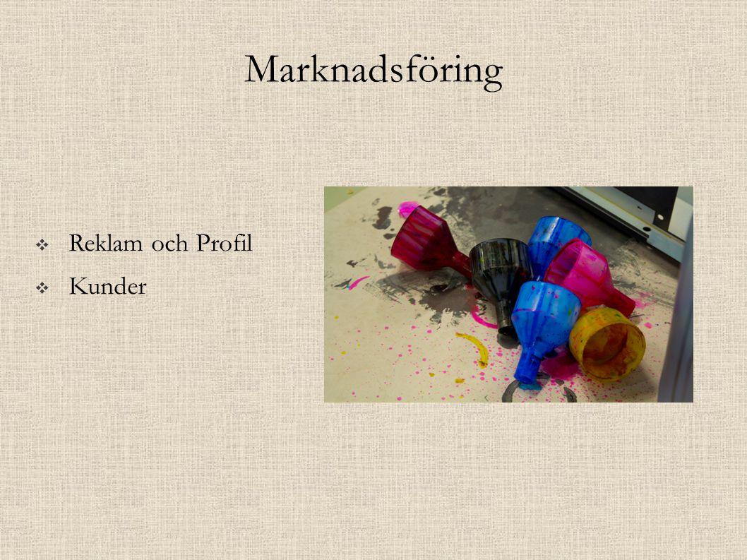 Marknadsföring  Reklam och Profil  Kunder