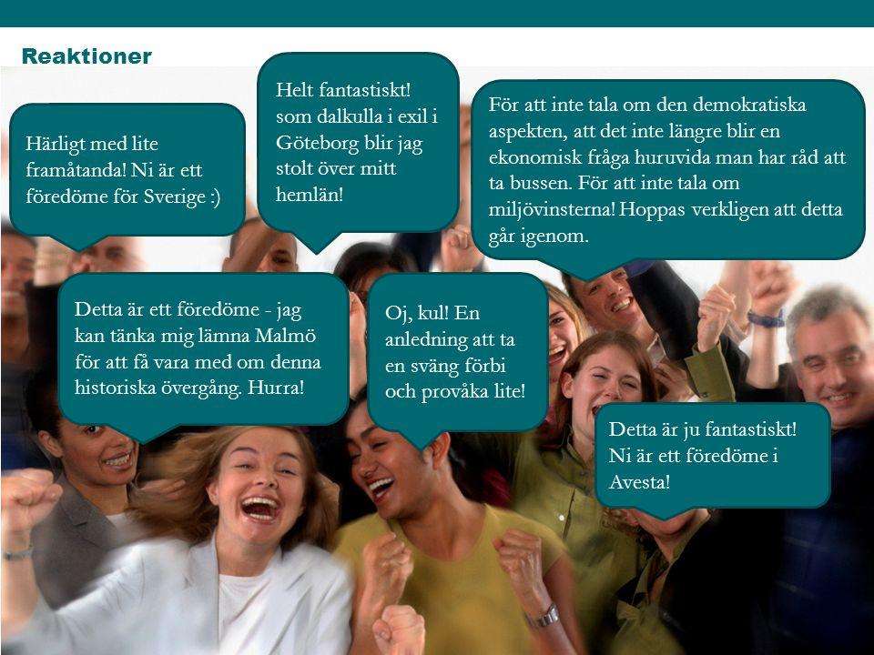 Reaktioner Härligt med lite framåtanda! Ni är ett föredöme för Sverige :) Helt fantastiskt! som dalkulla i exil i Göteborg blir jag stolt över mitt he
