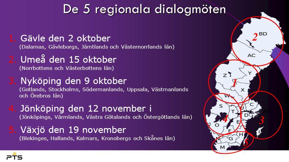 De 5 regionala dialogmöten 1.