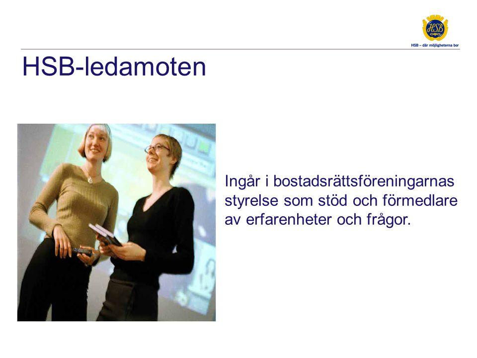 HSB-ledamoten Ingår i bostadsrättsföreningarnas styrelse som stöd och förmedlare av erfarenheter och frågor.