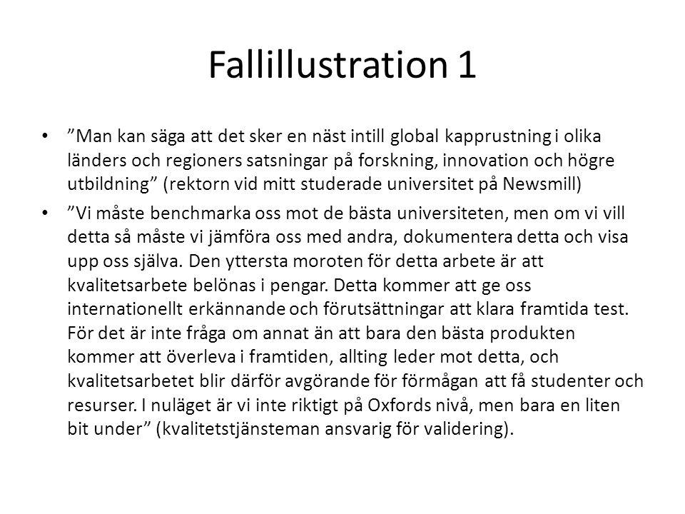 """Fallillustration 1 • """"Man kan säga att det sker en näst intill global kapprustning i olika länders och regioners satsningar på forskning, innovation o"""