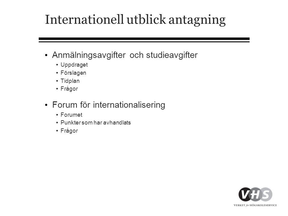 Forum för internationalisering forts.