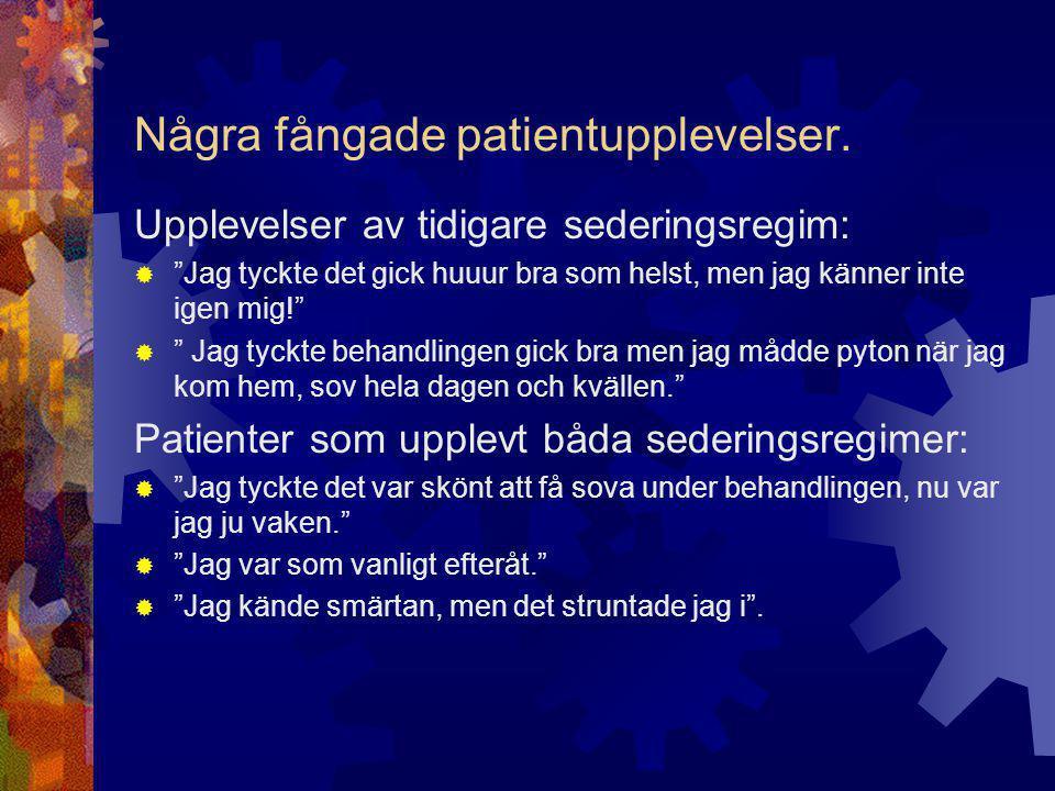 PM  Sedering och smärtlindring vid ESWL  Anil Gupta, Helena Walfridsson, Ove Andrén  Arbetsbeskrivning för ansv.