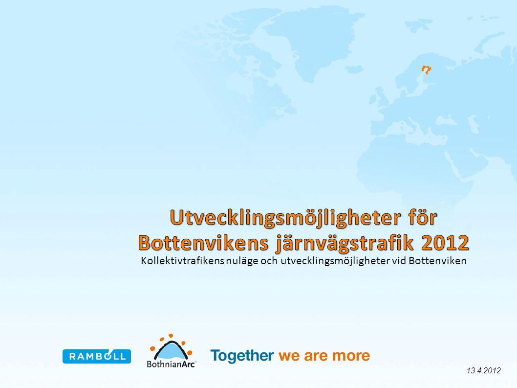 Kollektivtrafikens nuläge och utvecklingsmöjligheter vid Bottenviken 13.4.2012