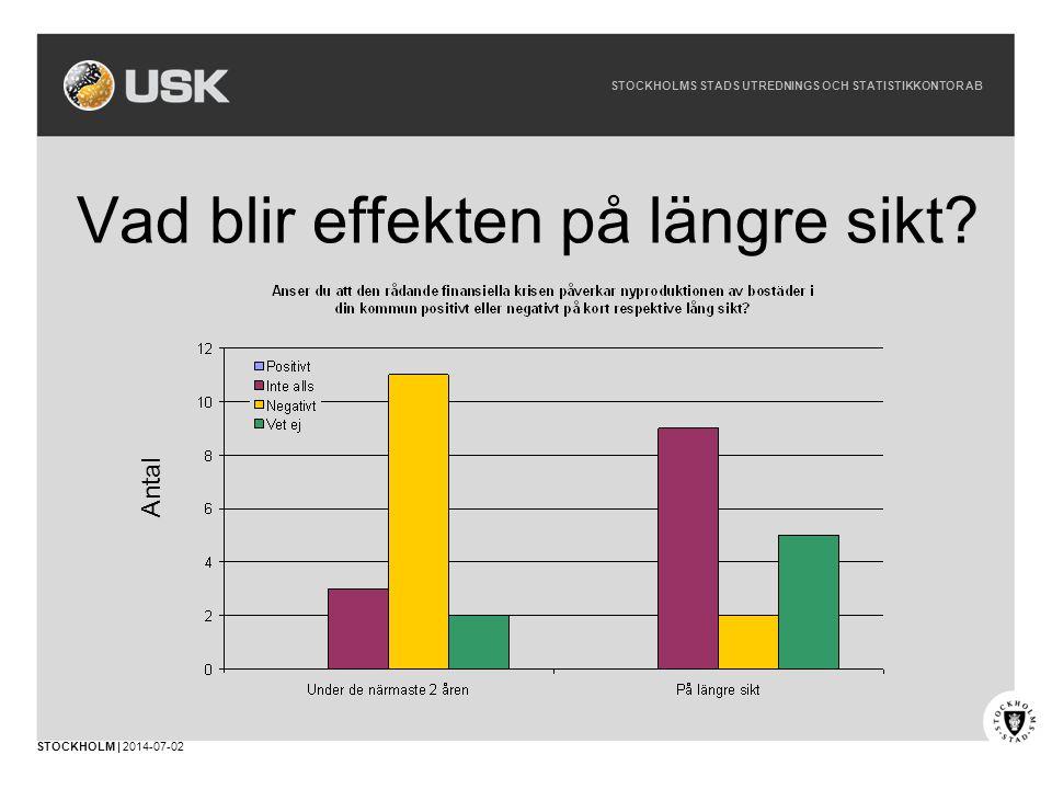 STOCKHOLMS STADS UTREDNINGS OCH STATISTIKKONTOR AB STOCKHOLM | 2014-07-02 Vad blir effekten på längre sikt.