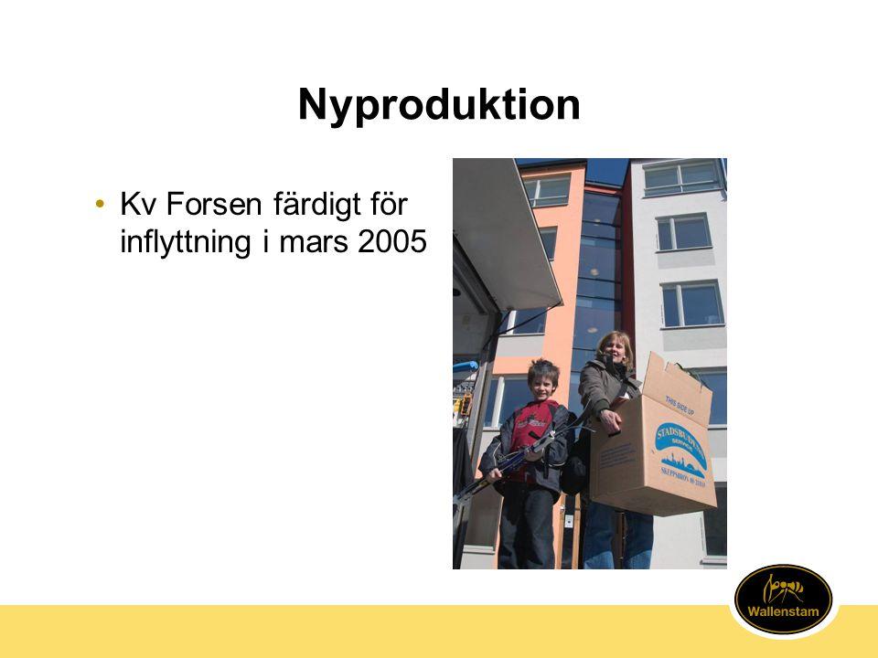 Nyproduktion •Kv Forsen färdigt för inflyttning i mars 2005