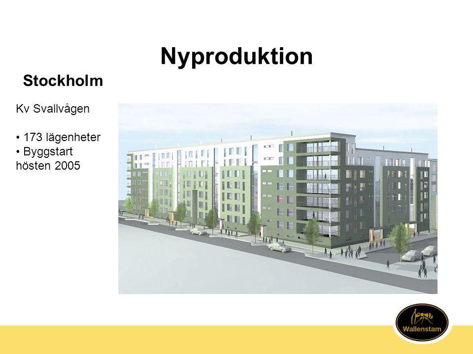 Nyproduktion Stockholm Kv Svallvågen • 173 lägenheter • Byggstart hösten 2005