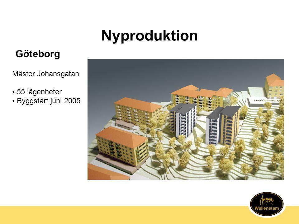Nyproduktion Göteborg Mäster Johansgatan • 55 lägenheter • Byggstart juni 2005
