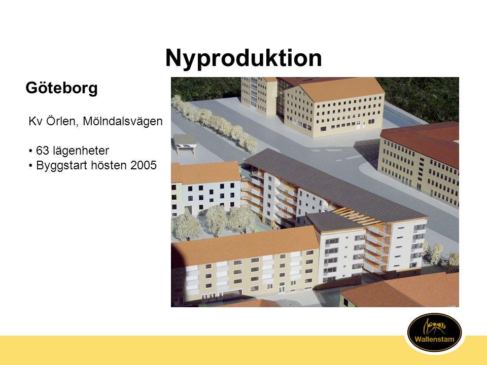 Nyproduktion Kv Örlen, Mölndalsvägen • 63 lägenheter • Byggstart hösten 2005 Göteborg