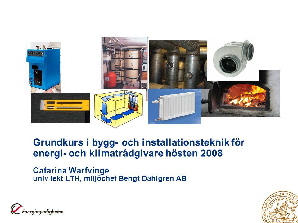 2 Syftet med teknikdelen, kursdag 3 och 4  Grundläggande kunskap om och tillämpning av  inneklimatfaktorer  bygg- och installationstekniska system.