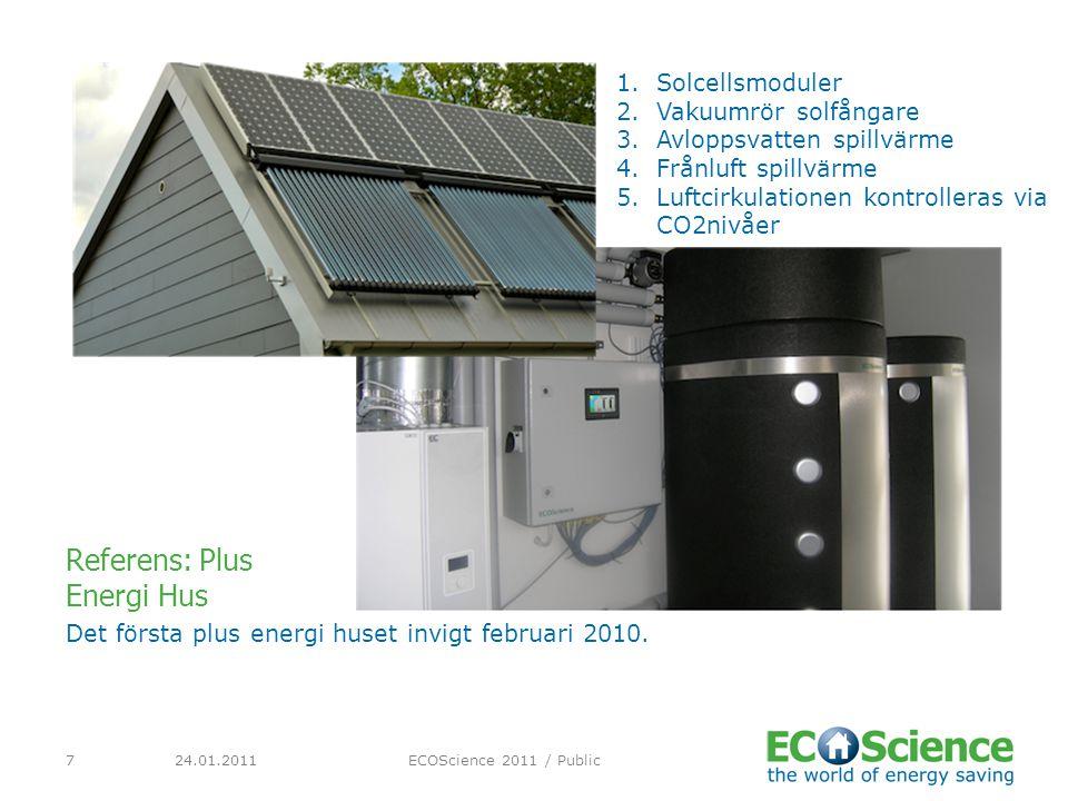 24.01.2011ECOScience 2011 / Public8 Eslöv kommunala badanläggning är Sverges största sol projekt år 2010 och kontraktet gick till Holmströms Rör och ECOScience.