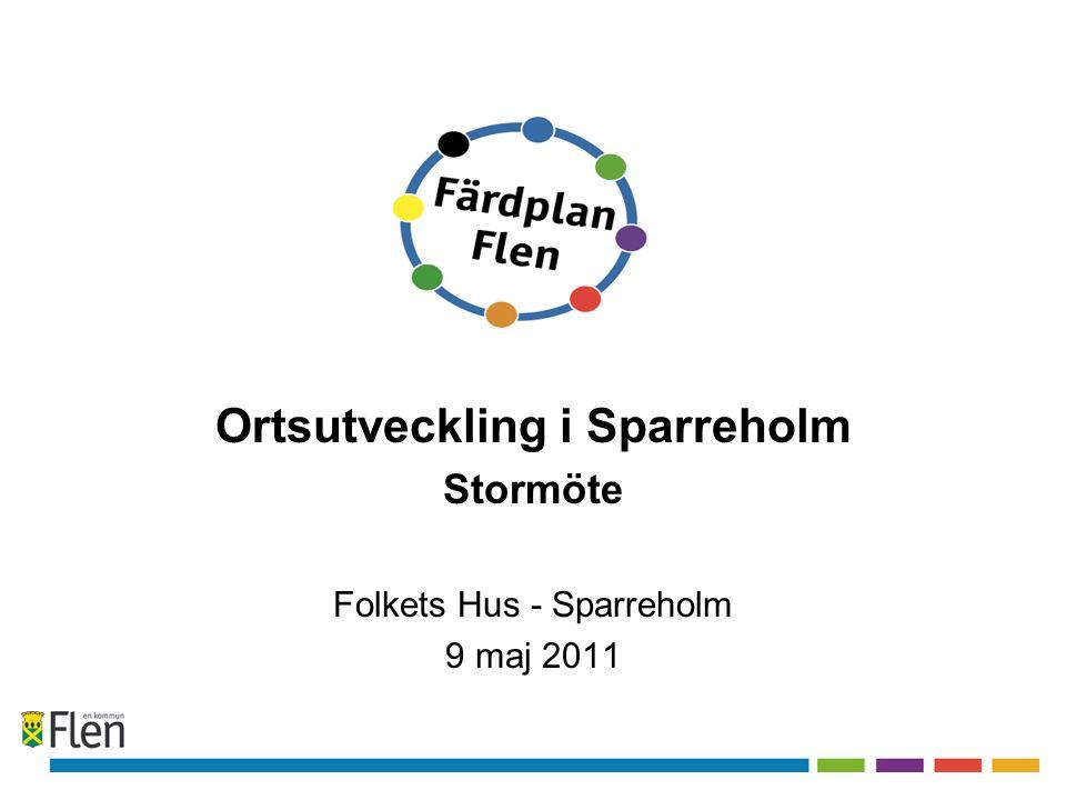 Kvällens program •Välkommen och bakgrund •Fakta om Sparreholm •Rapport från grupperna •SWOT analysen •Sparreholm 2019 – visionsarbete •Sammanfattning •20.45 TACK för i kväll