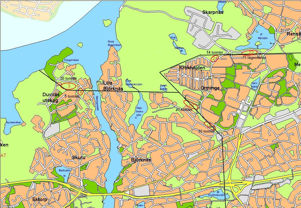 © Stockholms Ström 091023 5 22 21 19 18 3 4 30 tomter 5 tomter 14 tomter 75 lägenheter 20 tomter 10 tomter